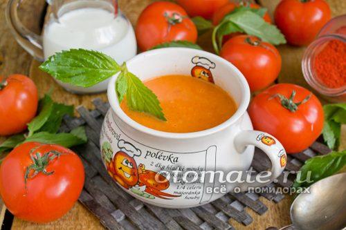 томатный суп пюре со сливками