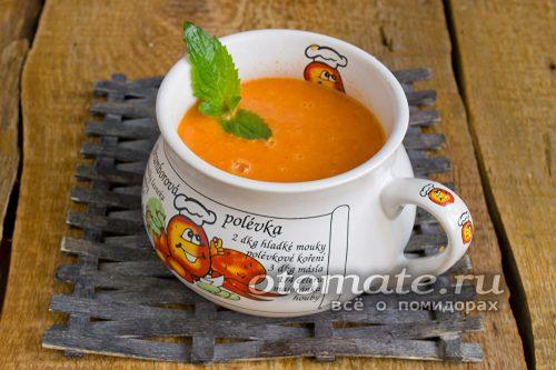 готовый томатный суп пюре