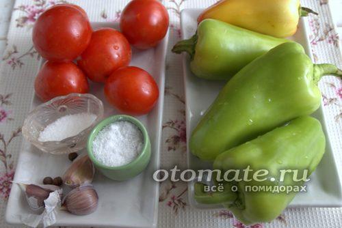 ингредиенты для перца в томате