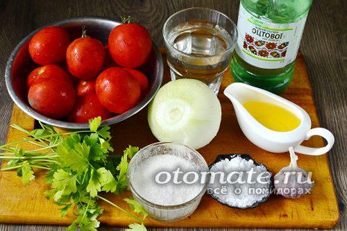 ингредиенты для томатных долек