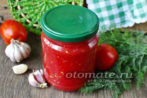 томатное пюре с чесноком