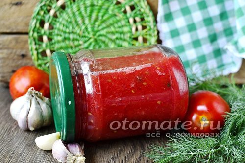 томаты с чесноком
