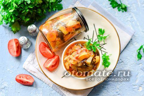 Зимний салат из овощей