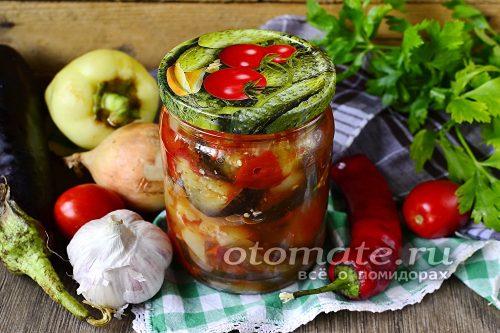 овощной салат из баклажан