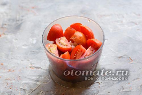 Порезать томаты