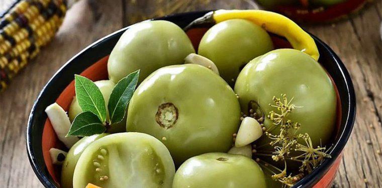 Зелные помидоры на зиму как бочковые