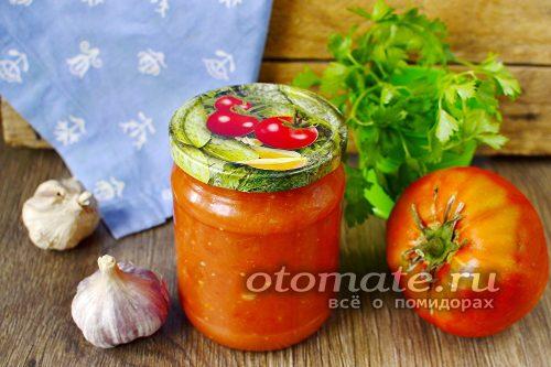 чесночный кетчуп на зиму