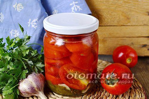 маринованные помидоры дольками готовы