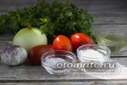 ингредиенты для маринации