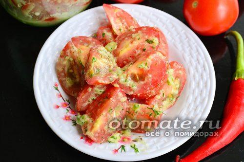 помидоры по-корейски готовы