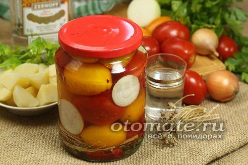 баночка маринованных помидор