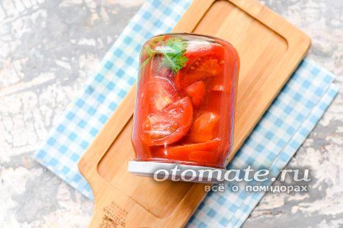 остудить помидоры под пледом сутки