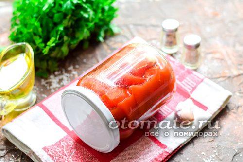 помидоры в томатной пасте готовы