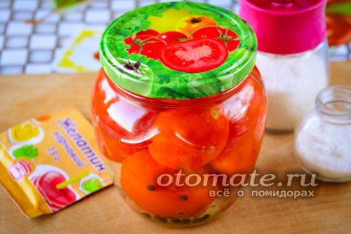 баночка помидор в желе