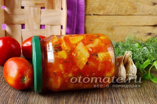 баночка с салатом из кабачков