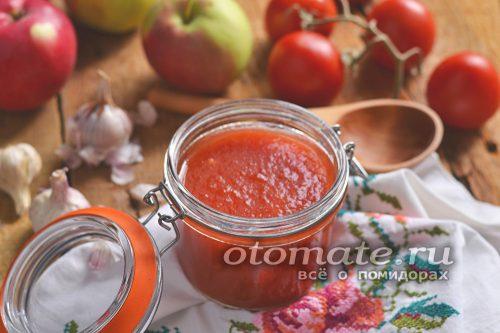 соус из помидор и яблок
