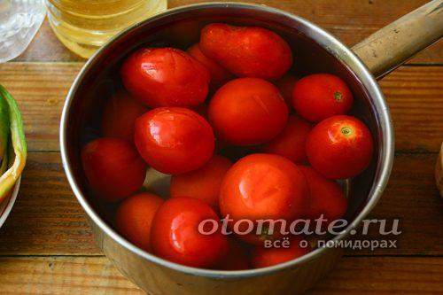 томаты помыть