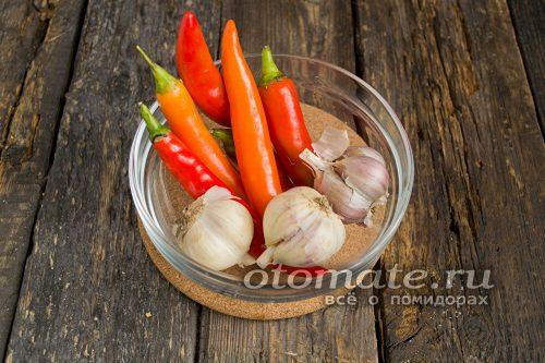 Жгучие перцы и чеснок