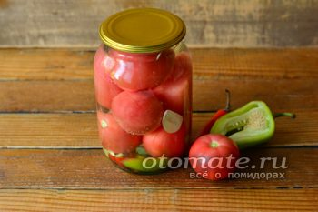 готовые помидоры в банке