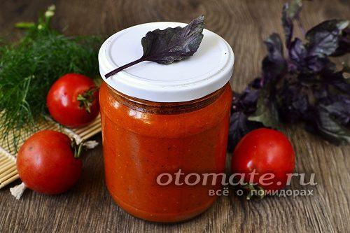 томатный соус с базиликом готов