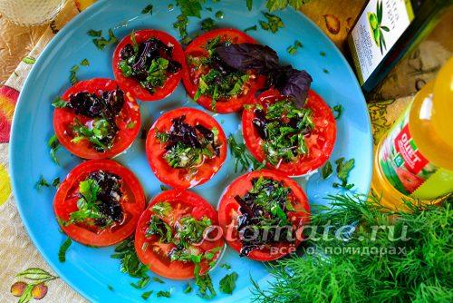 помидоры по-итальянски готовы