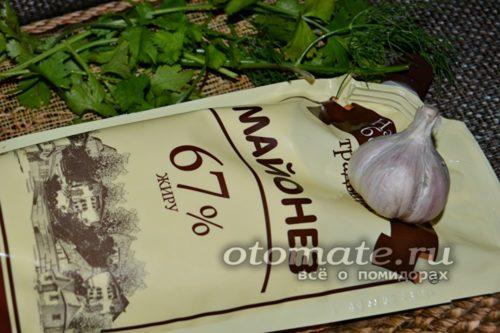 чеснок с майонезом