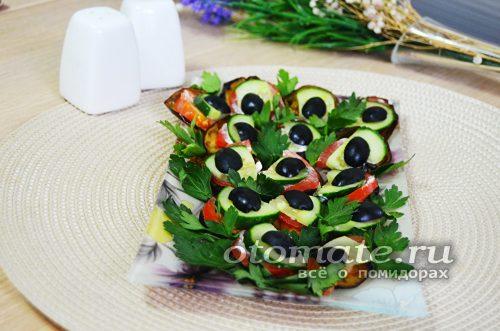 украшаем закуску зеленью