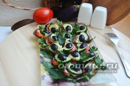 закуска из баклажан и помидор