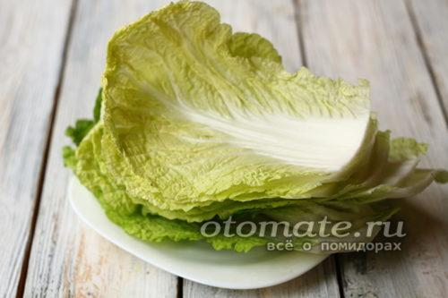 разделить капусту на листы