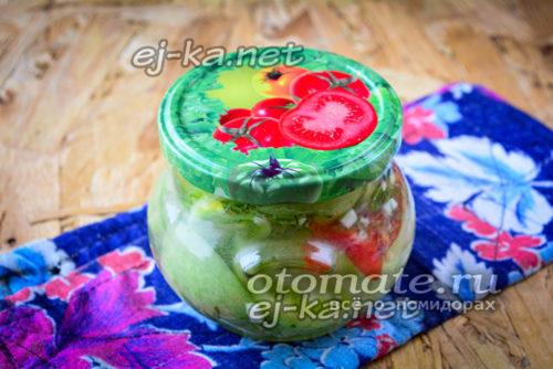 салат из зеленых помидор кобра
