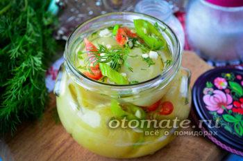 салат изумрудный из зеленых помидор