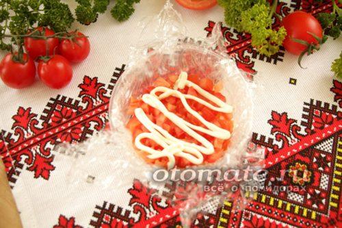 слой помидоров смазать майонезом