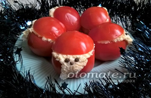 закуска из помидор дед мороз