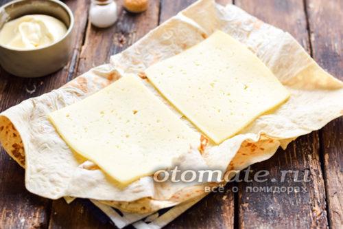Пластинки твердого сыра