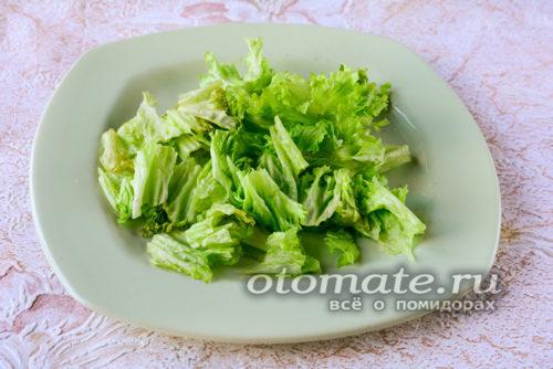 листья салата порвать