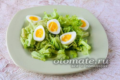 нарезать перепелиные яйца
