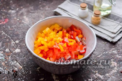 нарезать сладкий перец