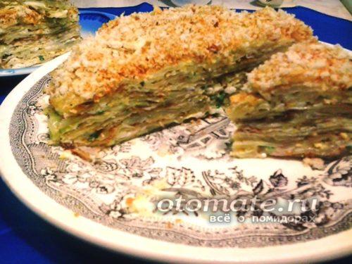 закусочный торт из капусты