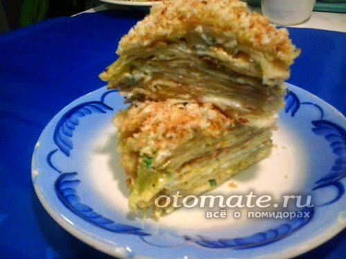торт из капустных листов