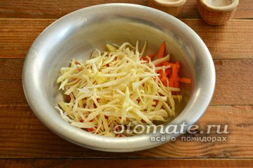 соедините морковь и капусту