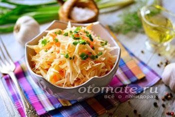 капуста с морковью и чесноком