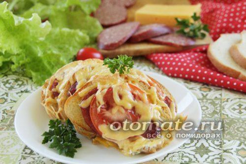 бутерброды в духовке веером