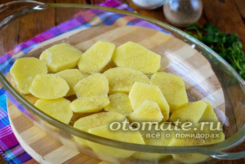 слой картофеля