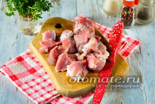 мясо нарезать