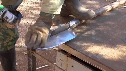 шлифовка лопаты