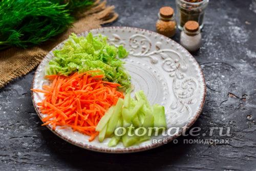 выложить пекинскую капусту