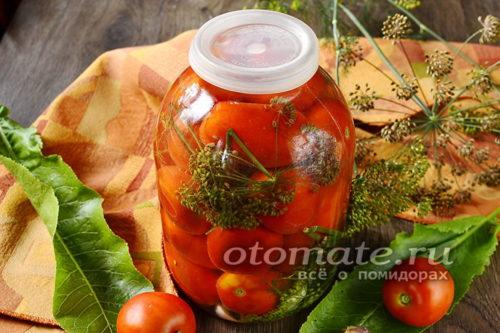 квашенные помидоры в банке