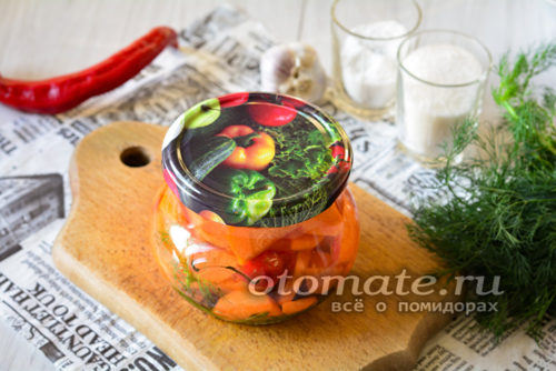 заготовка из морковки