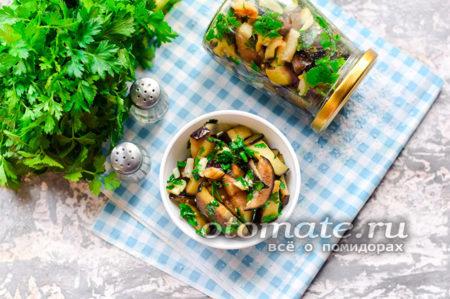 баклажаны с зеленью и чесноком на зиму