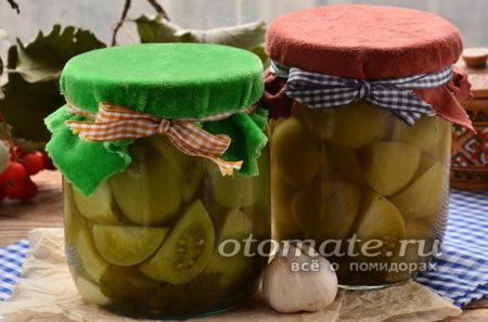 Рецепт зеленых помидор с чесноком маринованных
